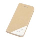 Задняя крышка-флип для Apple iPhone 4 кожа крокодила белая, прозрачный бокс