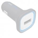 Автомобильная зарядка LP Fast Charge с USB выходом + кабель USB Type-C 9V-1,67A белая, европакет