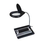 Лупа настольная  W.E.P 628ATD1 с LED подсветкой + магнитный держатель (4 магнита) 5X10X