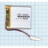 Аккумулятор Li-Pol (батарея) 3*30*35мм 2pin 3.7V/280mAh