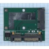 Переходник SSD mSATA на SATA компактный half size