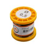 Припой-катушка ПОС-61 с канифолью, диам. 0,5 мм, 100 гр