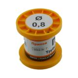 Припой-катушка ПОС-61 с канифолью,  диам. 0,8 мм, 50гр