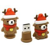 USB Flash накопитель (флешка) SmartBuy Новогодняя серия Медведь 8Гб USB 2.0