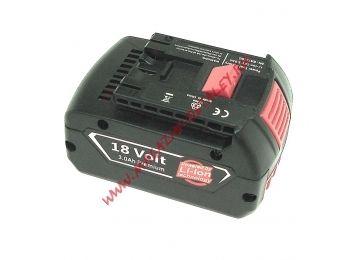 Аккумулятор для BOSCH (p/n: 2607336091, 2607336092, 2607336170, BAT609, BAT618), 3.0Ah 18V Li-ion