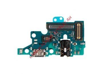 Шлейф (плата) с разъемом зарядки для Samsung Galaxy A71 SM-A715F (Premium)