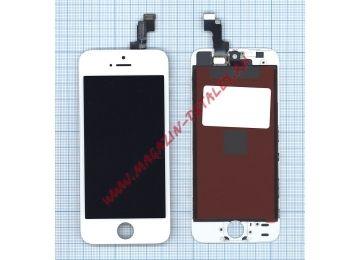Дисплей (экран) в сборе с тачскрином для iPhone 5S/SE (LT) белый - купить в Москве и России за 1 130 р.