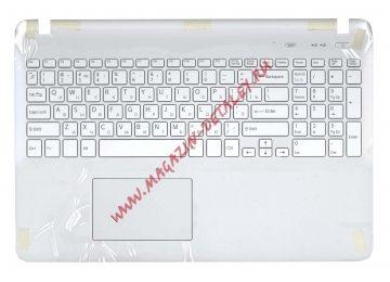 Клавиатура (топ-панель) для ноутбука Sony FIT 15 SVF15 белая, без подсветки - купить в Москве за 3 120 р.