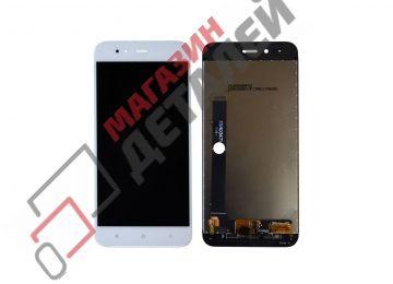 Дисплей (экран) в сборе с тачскрином для Xiaomi Mi A1, Mi 5X белый (Premium LCD) - купить в Москве за 1 870 р.