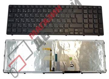 Клавиатура для ноутбука Sony Vaio SVE15 E15  черная с подсветкой большой Enter - купить в Москве за 1 490 р.