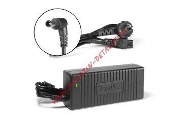 Блок питания (сетевой адаптер) TopOn для ноутбука Sony 19.5V 6.2A 120W 6.0x4.4 мм с иглой черный, с сетевым кабелем - купить в Москве и России за 1 775 р.