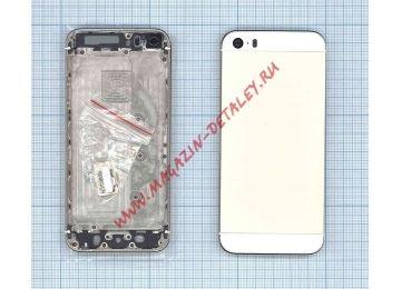 Задняя крышка (корпус) для IPhone 5S золото (Vixion) - купить в Москве и России за 765 р.