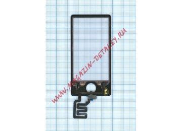 Сенсорное стекло (тачскрин) для Apple iPod nano 7 черный