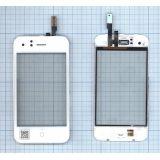 Сенсорное стекло (тачскрин) Apple IPhone 3G с рамкой белое