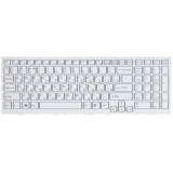 Клавиатура для ноутбука Sony Vaio VPC-EH VPCEH белая с белой рамкой