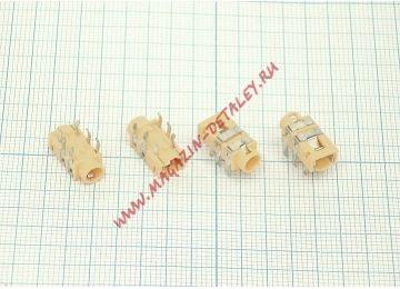 Разъем Audio Dock Connector 6 pin PJ-321C (Yellow)