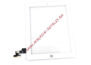 Сенсорное стекло (тачскрин) для Ipad 2 белое