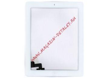 Сенсорное стекло (тачскрин) для Ipad 2 белое + кнопка home